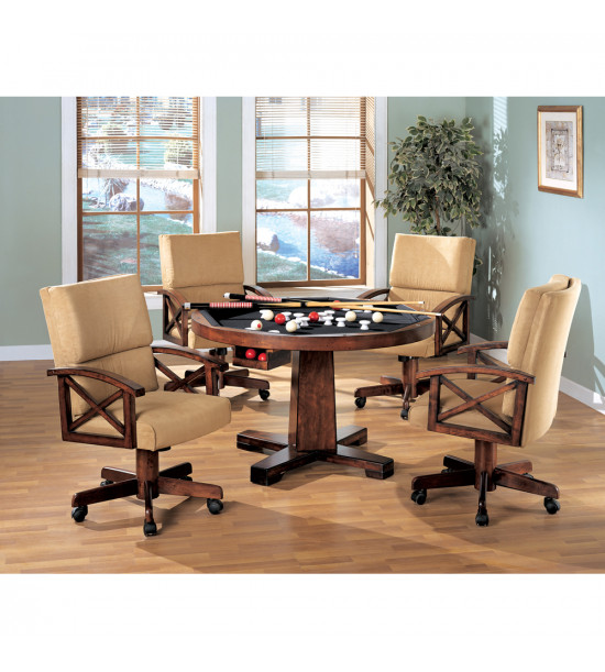 Coaster Furniture 100172 Marietta Upholstered Arm Game Chair