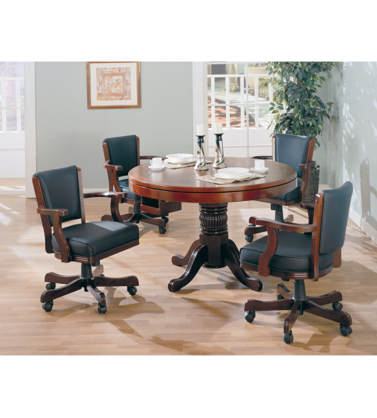 Coaster Furniture 100202 Mitchell Upholstered Arm Game Chair