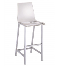 Coaster 100295 Dining Chairs and Bar Stools Acrylic Bar Height Stool with Chrome Base