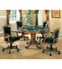 Coaster Furniture 100872 Turk Arm Game Chair with Casters and Fabric Seat and Back