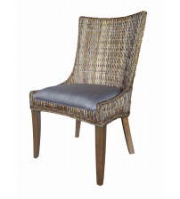 Coaster 101075 Matisse Country Cottage Woven Dining Chair with Cushioned Seat