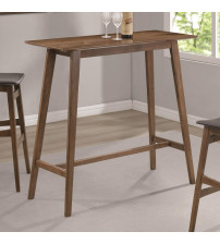 Coaster 101436 Bar Units and Bar Tables Rectangular Bar Table with Mid-Century Modern Design