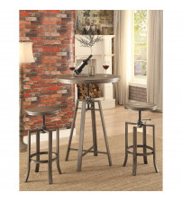 Coaster 101811 10181 Industrial Bar Table with Swivel Adjustable Height Mechanism