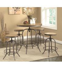 Coaster Furniture 122097 Transitional Adjustable Bar Table