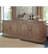 Coaster 180205 Florence Server with Raised Panels and Nested Drawers Rustic Smoke Finish