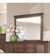 Coaster 200974 Franco Mirror with Burnished Oak Wood Frame Burnished Oak Finish