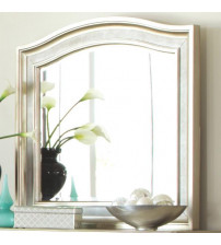 Coaster 204184 Bling Game Mirror with Arched Top Metallic Platinum Finish