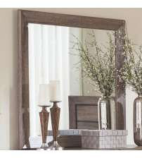 Coaster 204194 Kauffman Mirror with Rustic Frame Washed Taupe Finish