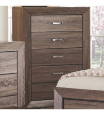 Coaster 204195 Kauffman Chest with 5 Drawers Washed Taupe Finish