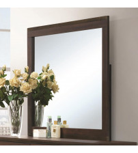 Coaster 204354 Edmonton Mirror with Wood Frame Rustic Tobacco/Dark Bronze Finish