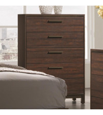 Coaster 204355 Edmonton Chest with Five Dovetail Drawers Rustic Tobacco Finish