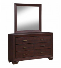 Coaster 204394 Fenbrook Rectangular Dresser Mirror in Dark Cocoa
