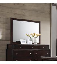 Coaster 204884 Madison Mirror with Wood Frame in Dark Merlot