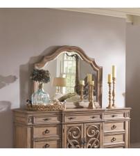 Coaster 205074 Ilana Mirror with Wood Frame Antique Linen Finish