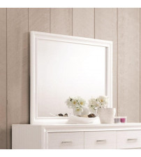 Coaster 205114 Miranda Mirror with Wood Frame in White