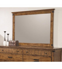 Coaster 205264 Brenner Mirror with Wood Frame in Natural
