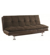 Coaster 300313 Sofa Beds and Futons - Millie Sofa Bed with Chrome Legs and Casual Style in Brown