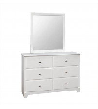 Coaster 400764 Ashton Collection Mirror with Transitional Design in White