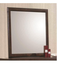 Coaster 400824 Greenough Mirror with Wood Frame in Maple Oak