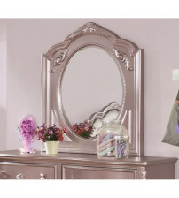 Coaster 400894 Caroline Framed Oval Mirror in Metallic Lilac