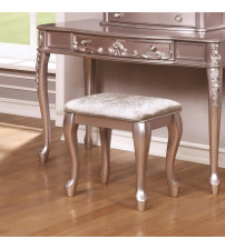 Coaster 400898 Caroline Vanity Stool with Cabriole Legs in Metallic Lilac