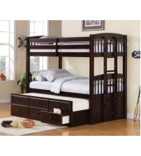 Coaster Furniture Logan Youth Bunk Bed in Cappuccino 460071