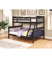 Coaster 460259 Bunks Traditional Twin over Full Bunk Bed in Black