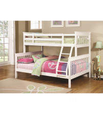 Coaster 460260 Bunks Traditional Twin over Full Bunk Bed in White