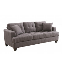 Coaster 505175 Samuel Sofa with Tufted Cushions in Charcoal