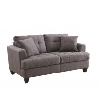 Coaster 505176 Samuel Sofa Loveseat with Tufted Cushions in Charcoal
