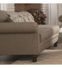Coaster 550047 Carnahan Traditional Chaise with Single Arm and Tufted Back