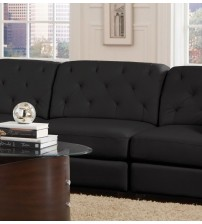 Coaster Furniture Quinn Center Armless Sectional in Black 551031
