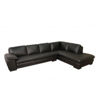 Baxton Studio 625-M9812-Sofa/Lying Black Sofa/Chaise Sectional