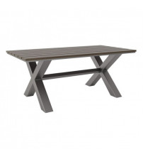 Zuo Modern 703817 Bodega Dining Table in Industrial Gray and Brown