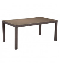 Zuo Modern 703821 Coronado Dining Table in Cocoa and Light Gray