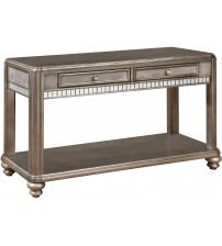 Coaster 704619 70461 Sofa Table with 2 Drawers Metallic Platinum Finish