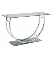 Coaster 704989 704980 U-Shaped Contemoporary Sofa Table Chrome Finish