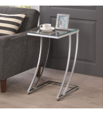 Coaster 900082 Accent Tables Contemporary Accent Table Chrome Finish