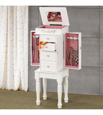 Coaster Furniture 900146 Jewelry Armoire in White