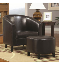 Coaster Furniture 900240 Accent Seating Chair with Ottoman