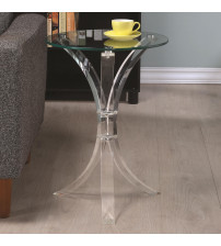 Coaster 900490 Accent Tables Contemporary Accent Table in Clear