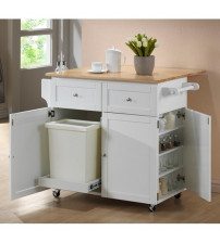 Coaster Furniture Counter Height Kitchen Island in White 900558