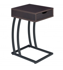 Coaster 900578 Accent Tables Chairside Table with Storage Drawer and Outlet in Cappuccino