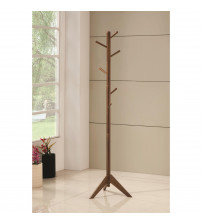 Coaster 900633 Coat Racks Coat Rack with Six Pegs Walnut Finish