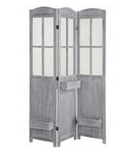 Coaster 900637 Folding Screens Three Panel Vintage Screen with Grey Finish