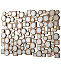 Coaster 901585 Accent Mirrors Collage Style Mirror with Round and Square Shapes