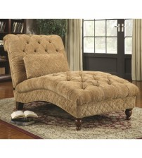 Coaster Furniture Accents Golden Toned Accent Chaise in Golden Sand 902077