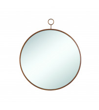 Coaster 902354 Accent Mirrors Circular Mirror with Simple Gold Frame