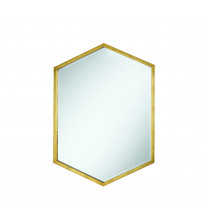 Coaster 902356 Accent Mirrors Hexagon Shaped Mirror with Gold Frame