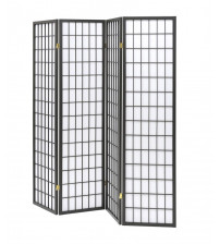 Coaster 902631 Folding Screens Four Panel Folding Screen in Dark Grey